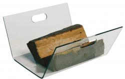 Koš na dřevo skleněný mod.029