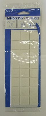 Filcové podložky samolepící 25x25 mm