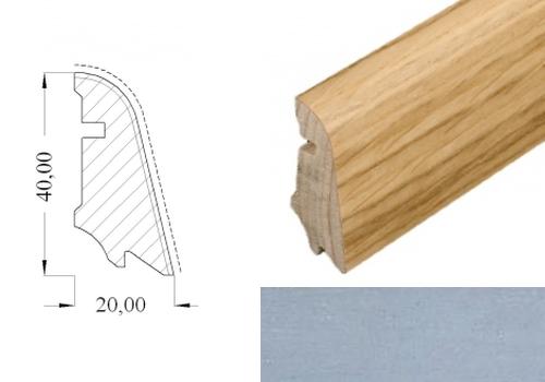 HOCO 554 UM leštěný hliník soklová lišta