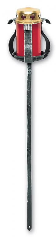 Louče - kovový držák na svíčku mod.005