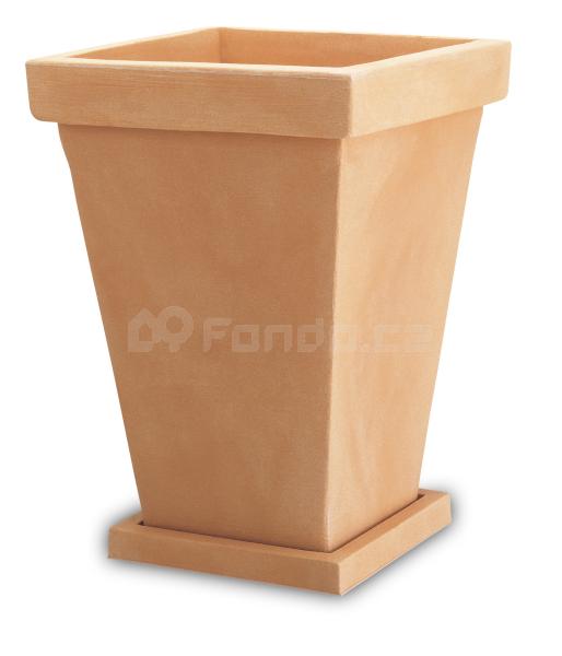 Plastový květináč VASO QUADRO TF38
