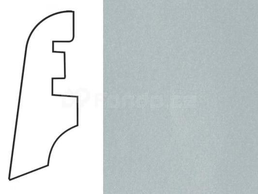Soklová lišta MDF - dekor Stříbro 111