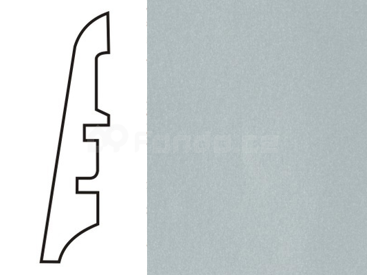 Soklová lišta MDF - dekor Stříbro 111 60