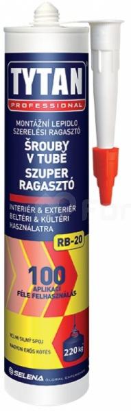 Šrouby v tubě RB-20 TYTAN - montážní lepidlo