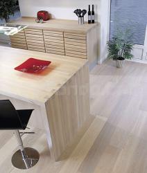 Dřevěná podlaha Dub prkno Moland UV bílý matný lak