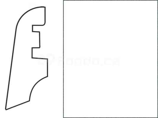 Soklová lišta MDF - dekor Bílá 00088