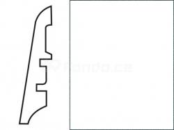 KP60 Bílá 00088 soklová lišta (10 ks / bal.)