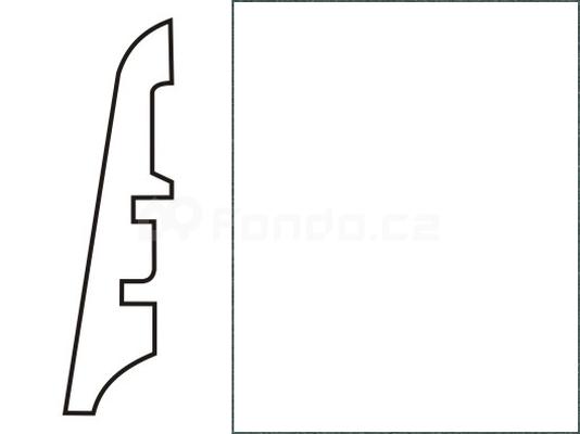 Soklová lišta MDF - dekor Bílá 00088 60