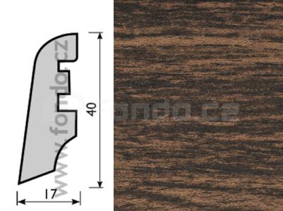 Soklová lišta MDF - dekor Dub 13517
