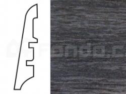 KP60 Dub černý 13520 soklová lišta