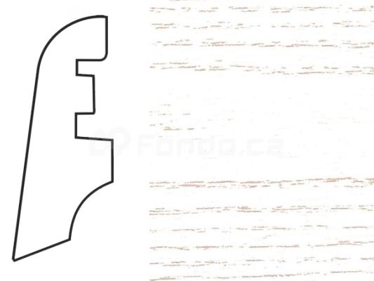 Soklová lišta MDF - dekor Jasan 294