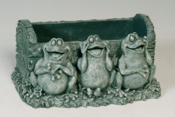 Zahradní dekorace - květináč se žábami