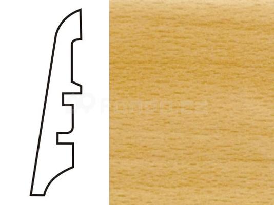 Soklová lišta MDF - dekor Buk 54007 60