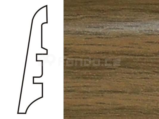 Soklová lišta MDF - dekor Dub 3123 60