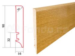 Barlinek P61 P6101081A Dub High Gloss Lacquer soklová lišta (10 ks / bal.)