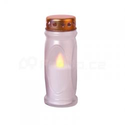 Star Trading Svíčka na hrob LED bílá mod.082