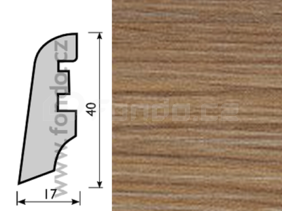 Soklová lišta MDF - dekor Dub 26424