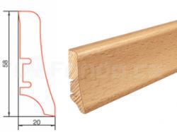 Barlinek P20 P2006011A Buk lak soklová lišta (10 ks / bal.)