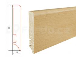 Barlinek P61 P6106011A Buk lak soklová lišta (10 ks / bal.)