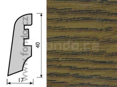 Soklová lišta MDF - dekor Dub kouřový 2593