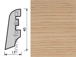 Soklová lišta MDF Dub 3660 40 mm