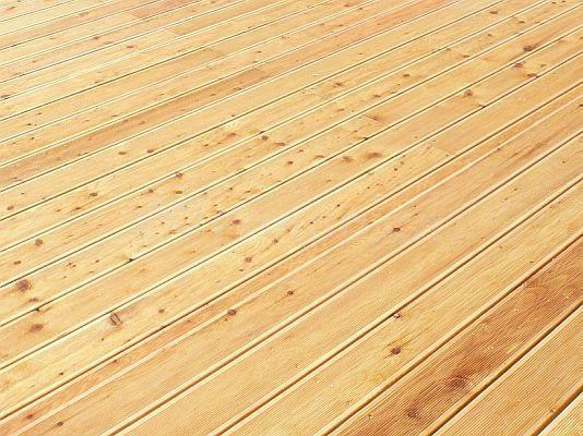 Dřevěná terasová podlaha - ilustrační obrázek