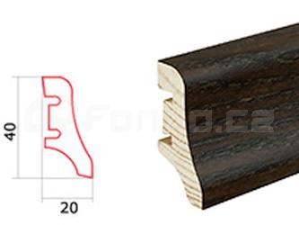 Soklová lišta Wenge P10 Barlinek P1009012A (10 ks / bal.)