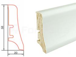 Barlinek P20 P2018101A folie bílá soklová lišta (10 ks / bal.)