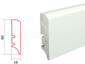 Soklová lišta P50 folie bílá Barlinek P5018101A (10 ks / bal.)