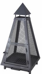 Zahradní kovové ohniště / lampa PYRAMIDE