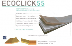 ECOCLICK55 luxusní zámkové vinylové podlahy