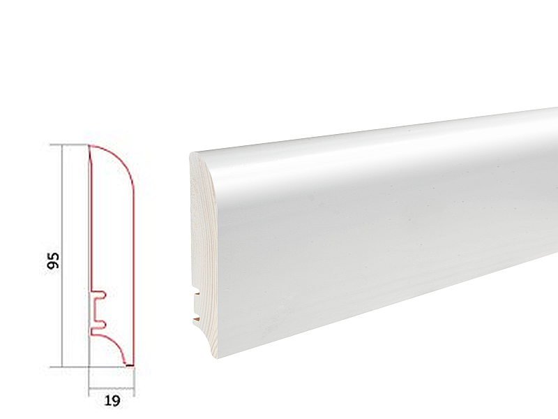 Barlinek WHITE P9227362A soklová lišta