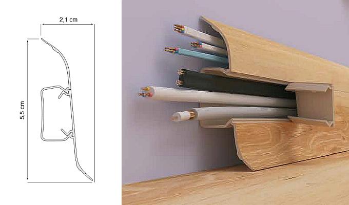 Profile Vox FLEX PVC soklová lišta