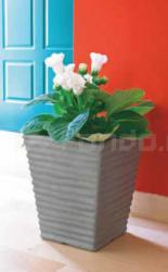 Plastový květináč VASO QUADRO RIGATO 38