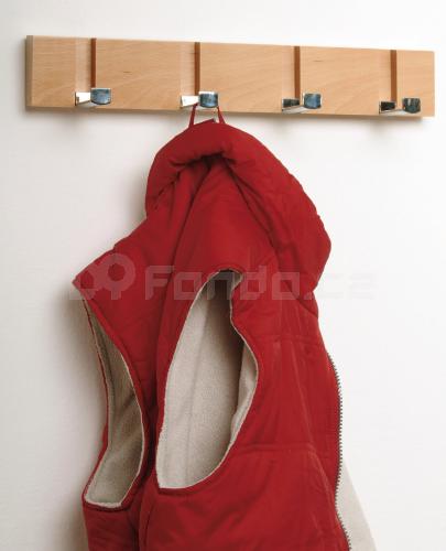 Nástěnný věšák na oděvy - odstín buk