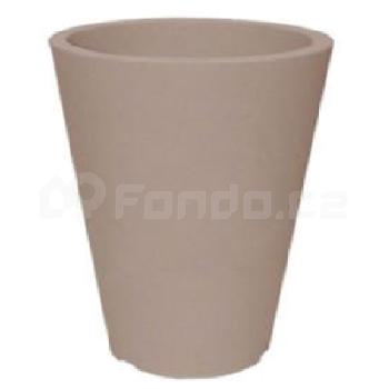 Plastový květináč CAPRI BT TAUPE