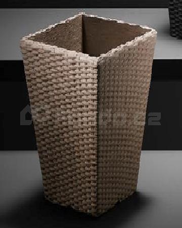 Plastový květináč FLECHT QUADRO taupe mod.597.2