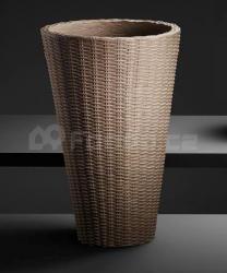 Plastový květináč FLECHT TONDO taupe mod.598.2