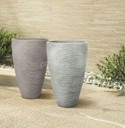 Plastový květináč TROPEA 60 taupe, tmavě šedá