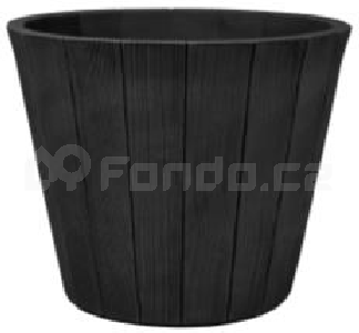 Plastový květináč WOOD-R ANTRACIT