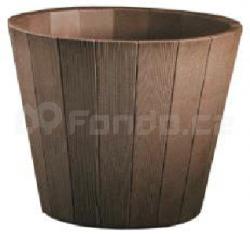 Plastový květináč WOOD-R TAUPE