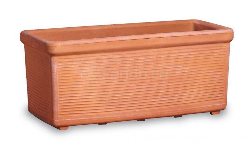 Plastový truhlík PESCARA - pálená hlína