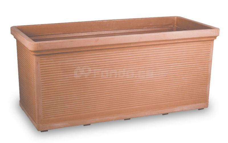 Plastový truhlík TORINO - pálená hlína
