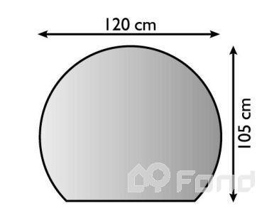 Plech pod kamna 120/105