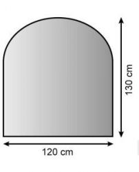 Plech pod kamna 120/130