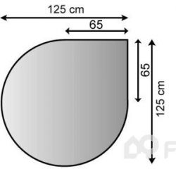 Plech pod kamna 125/65 - kapka
