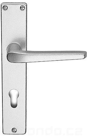 Dveřní kování štítkové EUROPA elox stříbrný