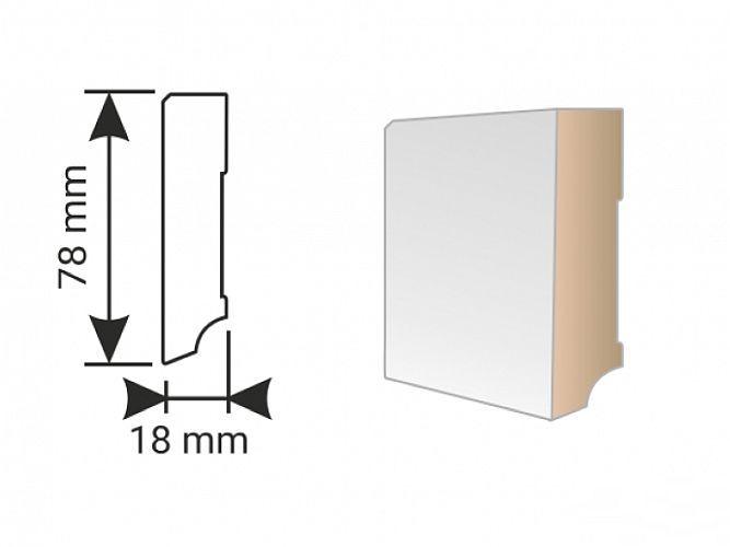 K-Produkt KP 80 F Bílá 00088 soklová lišta
