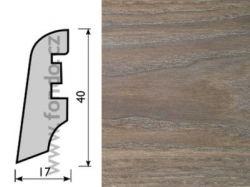 KP40 Dub mocca 4360 soklová lišta (10 ks / bal.)