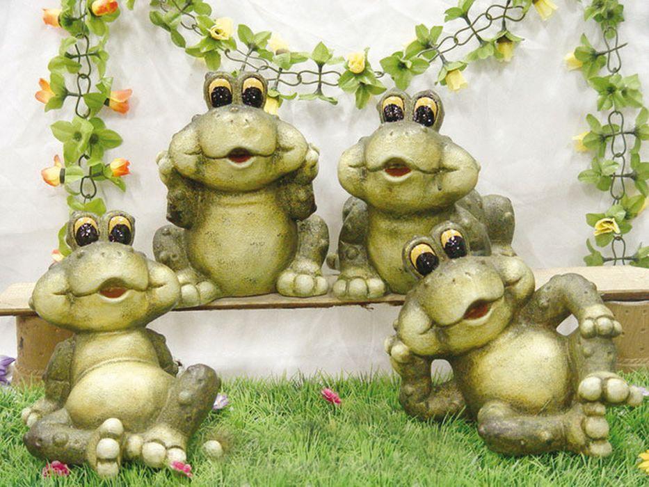 Žáby - zahradní keramická dekorace - sada mod.088